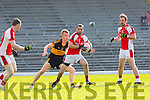 Eoin Lawlor Rathmore sheilds the ball from Fionn Fitzgerald Dr Crokes during their County Championship Q/F in Fitzgerald Stadium on Sunday