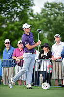 Vaughn Taylor (USA) watches his tee shot on 18 during round 1 of the Shell Houston Open, Golf Club of Houston, Houston, Texas, USA. 3/30/2017.<br /> Picture: Golffile | Ken Murray<br /> <br /> <br /> All photo usage must carry mandatory copyright credit (&copy; Golffile | Ken Murray)