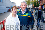 Bernie O'Sullivan and Jim O'Sullivan, (originally Listowel, Kerry), pictured at the All Ireland Minor Football Final of Kerry v Derry in Croke Park on Sunday last.