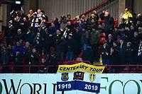 Leeds United fans look on<br /> <br /> Photographer Richard Martin-Roberts /CameraSport<br /> <br /> The EFL Sky Bet Championship - Brentford v Leeds United - Tuesday 11th February 2020 - Griffin Park - Brentford<br /> <br /> World Copyright © 2020 CameraSport. All rights reserved. 43 Linden Ave. Countesthorpe. Leicester. England. LE8 5PG - Tel: +44 (0) 116 277 4147 - admin@camerasport.com - www.camerasport.com