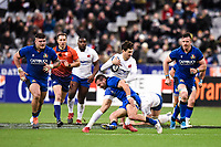 9th February 20020, Stade de France, Paris, France; 6-Nations international mens rugby union, France versus Italy;   Baptiste Serin  22 France  tries to break the tackle