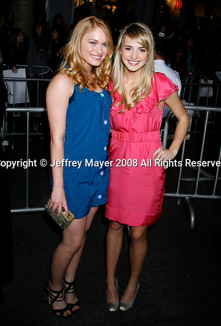 """HOLLYWOOD, CA. - February 24: Actresses Leven Ramblin and Katelyn Tarver  arrive at the Los Angeles premiere of """"Jonas Brothers: The 3D Concert Experience"""" at the El Capitan Theatre on February 24, 2009 in Los Angeles, California."""