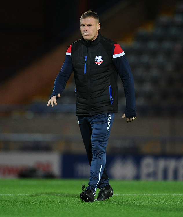 Bolton Wanderers assistant manager David Flitcroft<br /> <br /> Photographer Kevin Barnes/CameraSport<br /> <br /> EFL Leasing.com Trophy - Northern Section - Group F - Rochdale v Bolton Wanderers - Tuesday 1st October 2019  - University of Bolton Stadium - Bolton<br />  <br /> World Copyright © 2018 CameraSport. All rights reserved. 43 Linden Ave. Countesthorpe. Leicester. England. LE8 5PG - Tel: +44 (0) 116 277 4147 - admin@camerasport.com - www.camerasport.com