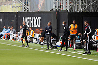 4th July 2020; Craven Cottage, London, England; English Championship Football, Fulham versus Birmingham City; Fulham Manager Scott Parker looking disappointed from the touchline