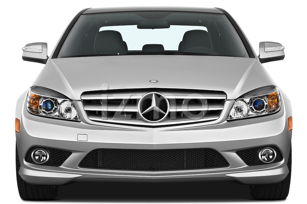 Straight front view of a 2010 Mercedes-Benz C Class