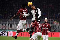 Franck Kessie of AC Milan , Alex Sandro of Juventus <br /> Milano 13/02/2020 Stadio San Siro <br /> Football Italy Cup 2019/2020 <br /> AC Milan - Juventus FC <br /> Photo Federico Tardito / Insidefoto