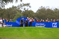 Anna Nordqvist of Team Europe on the 7th tee during Day 2 Foursomes at the Solheim Cup 2019, Gleneagles Golf CLub, Auchterarder, Perthshire, Scotland. 14/09/2019.<br /> Picture Thos Caffrey / Golffile.ie<br /> <br /> All photo usage must carry mandatory copyright credit (© Golffile | Thos Caffrey)