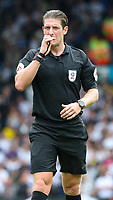 Referee Robert Jones<br /> <br /> Photographer Alex Dodd/CameraSport<br /> <br /> The EFL Sky Bet Championship - Leeds United v Nottingham Forest - Saturday 10th August 2019 - Elland Road - Leeds<br /> <br /> World Copyright © 2019 CameraSport. All rights reserved. 43 Linden Ave. Countesthorpe. Leicester. England. LE8 5PG - Tel: +44 (0) 116 277 4147 - admin@camerasport.com - www.camerasport.com
