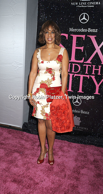 """Gayle King..posing for photographers at The New York Premiere of the ..""""Sex and The City"""" movie  on May 27, 2008 at Radio City Music Hall. ....Robin Platzer, Twin Images"""
