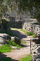 a winding country path and stone walls Bodega La Setera, DO Arribes del Duero spain castile and leon