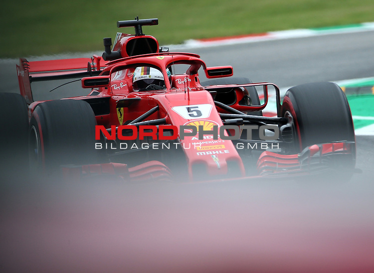 31.08.2018, Autodromo di Monza, Monza, FORMULA 1 GRAN PREMIO HEINEKEN D'ITALIA 2018<br />,im Bild<br />Sebastian Vettel (GER#5), Scuderia Ferrari<br /> <br /> Foto © nordphoto / Bratic