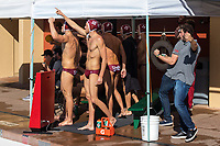 Stanford, California - November 16, 2019:<br /> Stanford Men's Water Polo v UCLA at the Avery Aquatic Center. Senior Day. Stanford won 17-11.