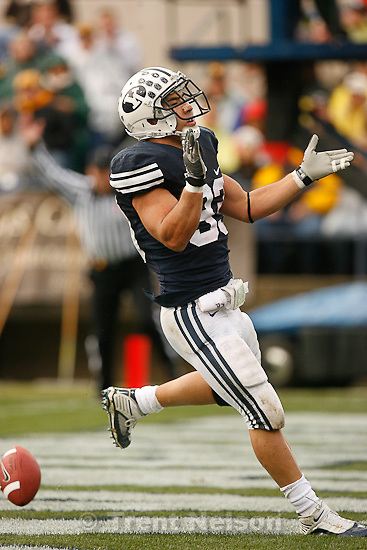 Trent Nelson  |  The Salt Lake Tribune.BYU running back Bryan Kariya (33) scores a touchdown during the first quarter, BYU vs. Wyoming, college football Saturday, October 23, 2010 at LaVell Edwards Stadium in Provo.