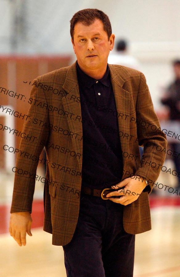 Kosarka, Sinalco liga, season 2006/07OKK Beograd Vs. VojvodinaSlobodan Nikolic head coachBeograd, 03.02..2007.FOTO: Srdjan Stevanovic