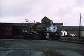 3/4 engineer's-side view of D&amp;RGW standard gauge #1161 on the Alamosa turntable.<br /> D&amp;RGW  Alamosa, CO