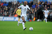 Andre Ayew of Swansea City in action during the Sky Bet Championship match between Swansea City and Millwall at the Liberty Stadium in Swansea, Wales, UK. Saturday 23rd November 2019