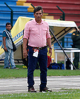 FLORIDABLANCA -COLOMBIA, 09-07-2016. Flabio Torres director tecnico del Bucaramanga.Acción de juego  entre los equipos Bucaramanga  y Patriotas FC  durante encuentro  por la fecha 2 de la Liga Aguila II 2016 disputado en el estadio Alvaro Gomez Hurtado./  Flabio Torres Coach of Bucaramanga.Actions game between Bucaramanga and Patriotas FC  during match for the date 2 of the Aguila League II 2016 played at Alvaro Gomez Hurtado stadium . Photo:VizzorImage / Duncan Bustamante / Contribuidor
