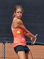 Netherlands, Rotterdam August 05, 2015, Tennis,  National Junior Championships, NJK, TV Victoria, Barbara Huyskes  <br /> Photo: Tennisimages/Henk Koster