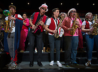 STANFORD, CA - February 22, 2019: Marc Tessier-Lavigne at Maples Pavilion. The Stanford Cardinal defeated the Arizona Wildcats 56-54.