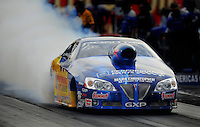 Oct. 31, 2008; Las Vegas, NV, USA: NHRA pro stock driver Warren Johnson during qualifying for the Las Vegas Nationals at The Strip in Las Vegas. Mandatory Credit: Mark J. Rebilas-