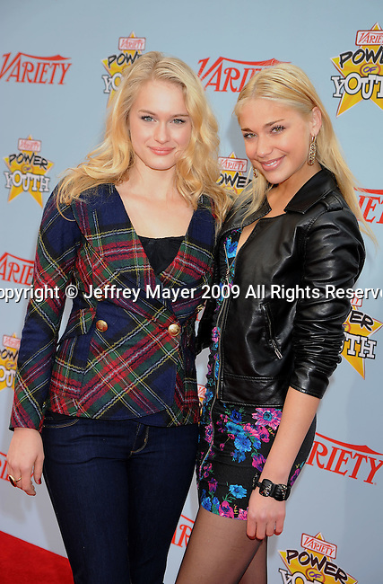 "HOLLYWOOD, CA. - December 05: Leven Rambin and Shoshana Bush arrive at Variety's 3rd annual ""Power of Youth"" event held at Paramount Studios on December 5, 2009 in Los Angeles, California."