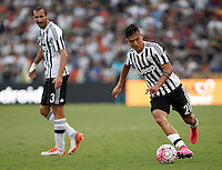 Calcio, Serie A: Roma vs Juventus. Roma, stadio Olimpico, 30 agosto 2015.<br /> Juventus&rsquo; Paulo Dybala, right, in action past his teammate Giorgio Chiellini during the Italian Serie A football match between Roma and Juventus at Rome's Olympic stadium, 30 August 2015.<br /> UPDATE IMAGES PRESS/Isabella Bonotto