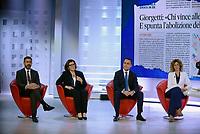 Roma, 23 Maggio 2019<br /> Luigi Di Maio, Riccardo Fraccaro , Elisabetta Trenta, Barbara Lezzi .<br /> il Movimento 5 Stelle a L'Aria Che Tira