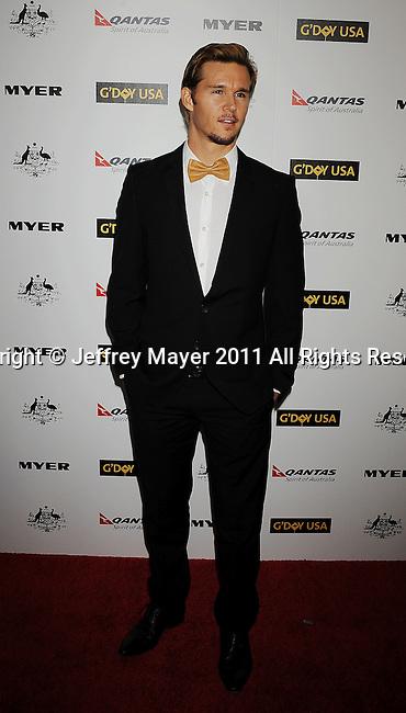HOLLYWOOD, CA - January 22: Ryan Kwanten arrives at the G'Day USA Australia Week 2011 Black Tie Gala at the Hollywood Palladium on January 22, 2011 in Hollywood, California.