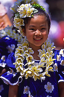 Hula Performance at May Day Celebration.  Hula Halau Hula ëO Hokulani Keiki.