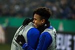 19.12.2017, Veltins-Arena , Gelsenkirchen, GER, DFB Pokal Achtelfinale, FC Schalke 04 vs 1. FC K&ouml;ln<br /> , <br /> <br /> im Bild | pictures shows:<br /> Breel Embolo (FC Schalke 04 #36) und Weston McKennie (FC Schalke 04 #2), die sich aufw&auml;rmen,  jubeln &uuml;ber den Treffer zum 1:0, <br /> <br /> Foto &copy; nordphoto / Rauch