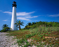 Key Biscayne, FL  <br /> Cape Florida Lighthouse (1825) overlooking Biscayne Bay and the Atlantic Ocean form Bill Baggs State Recreation Area
