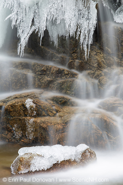 Cascade along the Swift River in Livermore, New Hampshire during the winter months.