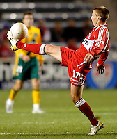 Chicago Fire forward Chris Rolfe (17) controls the ball.  The Chicago Fire defeated the Los Angeles Galaxy 3-1 in the championship game of the U.S. Open Cup at Toyota Park in Bridgeview, IL on September 27, 2006...