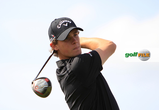Thomas Pieters (BEL) on the 4th tee during Round 1 of the 2015 KLM Open at the Kennemer Golf &amp; Country Club in The Netherlands on 10/09/15.<br /> Picture: Thos Caffrey | Golffile