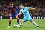 UEFA Champions League 2019/2020.<br /> Matchday 4.<br /> FC Barcelona vs SK Slavia Praha: 0-0.<br /> Antoine Griezmann vs Vladimir Coufal.