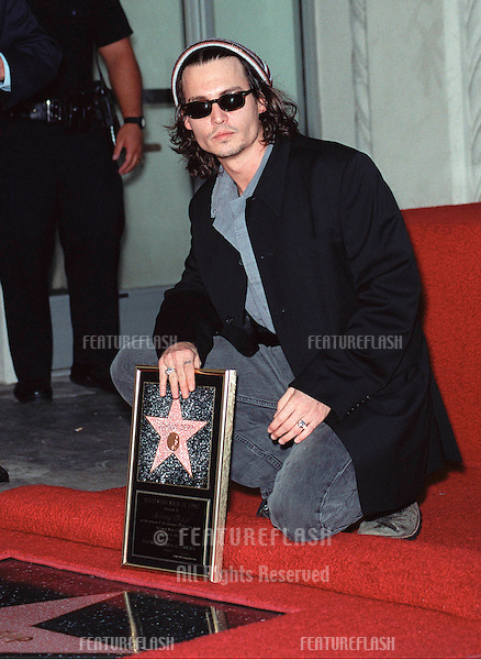 16NOV99: Actor JOHNNY DEPP in Hollywood where he was honored with the 2,149th star on the Hollywood Walk of Fame..© Paul Smith / Featureflash