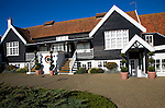 Thorpeness Country Club. Glencairn Stuart Ogilvie developed Thorpeness as his private fantasy holiday village in the 1920s with buildings in Jacobean and Tudor styles, Thorpeness, Suffolk, England