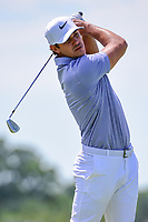 Brooks Koepka (USA) watches his tee shot on 13 during Friday's round 2 of the 117th U.S. Open, at Erin Hills, Erin, Wisconsin. 6/16/2017.<br /> Picture: Golffile   Ken Murray<br /> <br /> <br /> All photo usage must carry mandatory copyright credit (&copy; Golffile   Ken Murray)