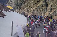 Elite chasing group over the Umbrailpass (Alt: 2502m)<br /> <br /> Stage 16: Rovett &rsaquo; Bormio (222km)<br /> 100th Giro d'Italia 2017