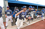 Western Nevada players celebrate a win against College of Southern Nevada at Western Nevada College in Carson City, Nev. on Friday, May 6, 2016. <br />
