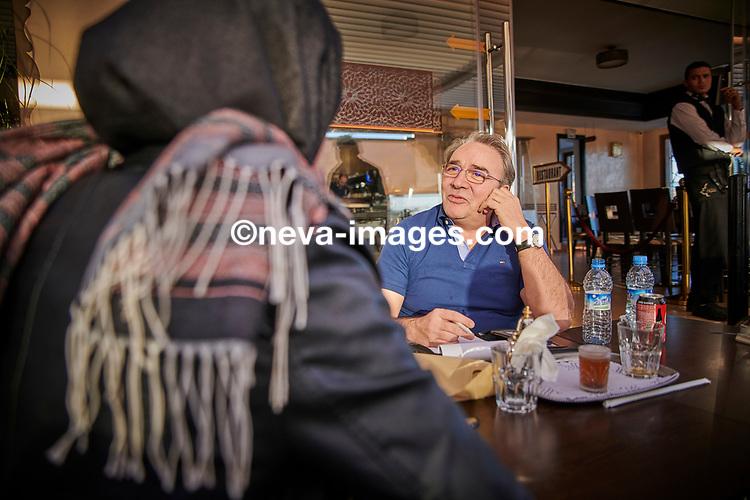Rabat, Marrakech, du 9 au 12 janvier 2019, djhadiste Genevois arrêté, ici son épouse depuis février 2016, Fatima nous raconte son mari en interview Avec Alex Baur Journaliste d'investigation à la Welt woche© sedrik nemeth