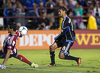 Santa Clara, California - Saturday, August 3, 2013: San Jose Earthquakes defeated Chivas USA 2-0 at Buck Shaw Stadium during a MLS game.