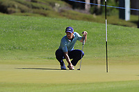 Paul Dunne (IRL) on the 3rd green during Saturday's Round 3 of the 2018 Turkish Airlines Open hosted by Regnum Carya Golf &amp; Spa Resort, Antalya, Turkey. 3rd November 2018.<br /> Picture: Eoin Clarke | Golffile<br /> <br /> <br /> All photos usage must carry mandatory copyright credit (&copy; Golffile | Eoin Clarke)