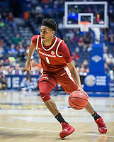 NWA Democrat-Gazette/BEN GOFF @NWABENGOFF<br /> Isaiah Joe, Arkansas guard, vs Florida Thursday, March 14, 2019, during the second round game in the SEC Tournament at Bridgestone Arena in Nashville.