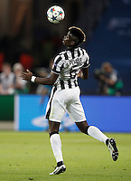 Calcio, finale di Champions League Juventus vs Barcellona all'Olympiastadion di Berlino, 6 giugno 2015.<br /> Juventus' Paul Pogba controls the ball during the Champions League football final between Juventus Turin and FC Barcelona, at Berlin's Olympiastadion, 6 June 2015.<br /> UPDATE IMAGES PRESS/Isabella Bonotto