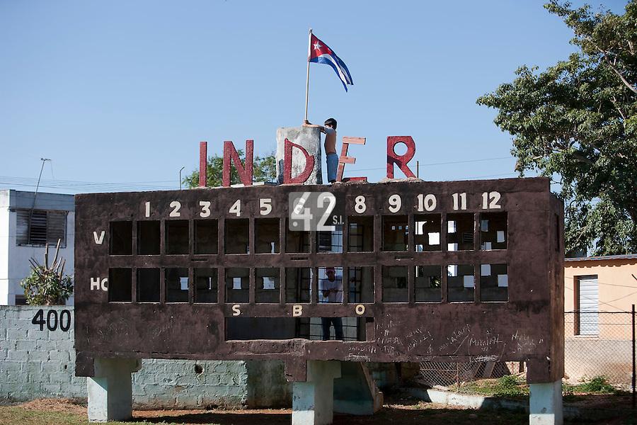 BASEBALL - POLES BASEBALL FRANCE - TRAINING CAMP CUBA - HAVANA (CUBA) - 13 TO 23/02/2009 - CUBA NATIONAL FLAG