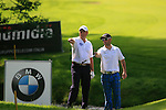 Graeme Storm (ENG) and Mark Tullo (CHI) debate where Graeme's ball entered the stream at the 5th green during Day 3 of the BMW Italian Open at Royal Park I Roveri, Turin, Italy, 11th June 2011 (Photo Eoin Clarke/Golffile 2011)