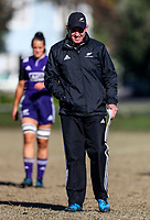 Coach Glenn Moore. Black Ferns Rugby training prior to the teams departure for the Women's World Cup, Orakei Domain, Auckland, New Zealand. Photo: Simon Watts / www.bwmedia.co.nz
