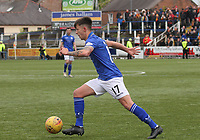 Connor Murray in the SPFL Ladbrokes Championship football match between Queen of the South and Partick Thistle at Palmerston Park, Dumfries on  4.5.19.