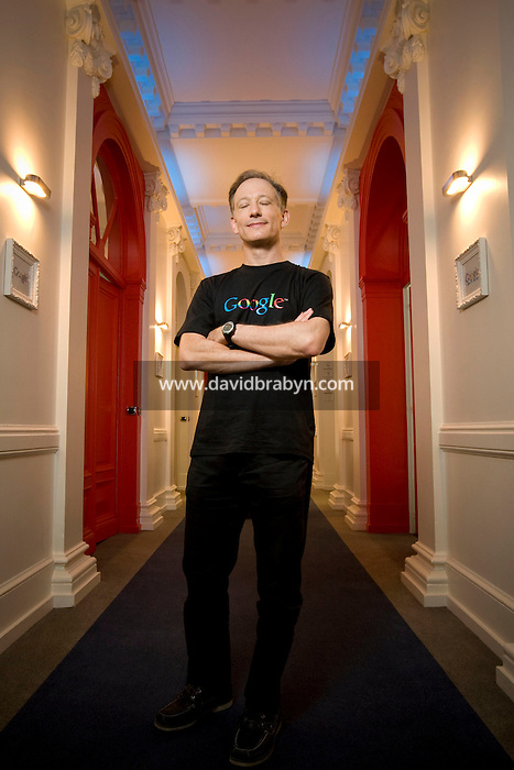 Peter Fleischer, Google's Global Privacy Counsel, poses for the photographer in the company's offices in Paris, France, 11 August 2008.